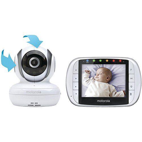 Motorola Wireless Video Baby Monitor White MBP36S