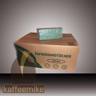 5000 Falthandtücher grün 1 lagig ZZ Falz 25x23 cm Faltpapiertücher Papiertücher