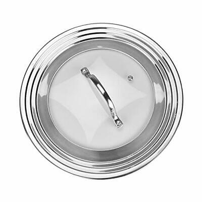 """Universal Glass Lid Fits All 7"""" to 12"""" Pots and Pans"""