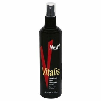 6 Pack Vitalis Hairspray For Men Non-aerosol Unscented Ma...