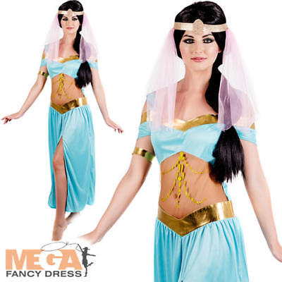 Fancy Dress Arabian Nights (Arabian Nights Princess Ladies Fancy Dress Fairytale Jasmine Adult Women)