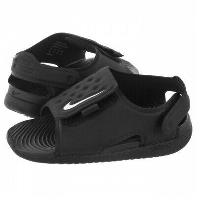 Nike Toddlers Kids Infants Boys SUNRAY ADJUST Sandal Beach Everyday Black White