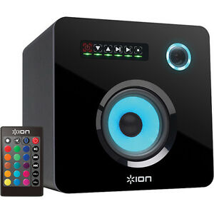 ION FLASH CUBE BLUETOOTH SPEAKER AND REMOTE 50 WATTS NEW