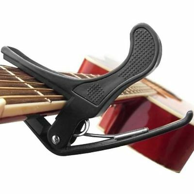 Capo de Guitarra Abrazadera para Eléctricas & Acústico Negro Rápido Gatillo