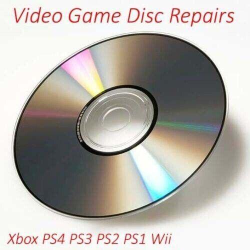 1 Professional Video Game Disc Repair Service Scratch Removal Restore Discs