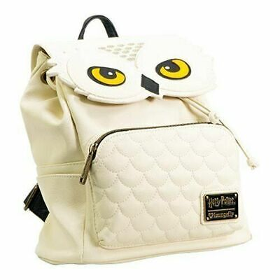 New Harry Potter Hedwig Faux Leather Loungefly Mini Owl White Backpack