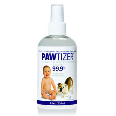 Pawtizer Antibacteral Dog Paw Pet Spray 8oz Organic Salt Bitrex Anti-Lick Clean