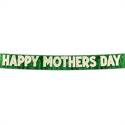 Metallic Glitter Happy Mothers Day Banner Mothers Day Decor