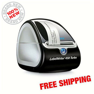 Dymo Labelwriter 450 Turbo Thermal Label Printer 1752265 Free Shipping