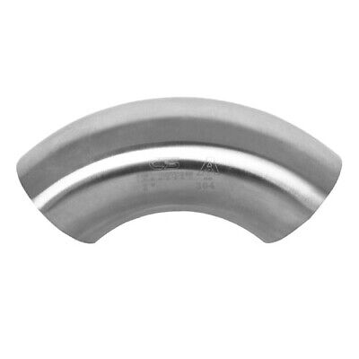 90 Degree Sanitary Stainless Steel Short Bend Weld Fitting 4 304