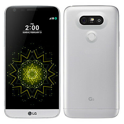 UNLOCKED T-Mobile LG G5 H830 Silver 4G LTE GSM 32GB Android Smart Phone ** 8/10