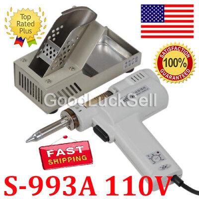 S-993a 110v 90w Electric Vacuum Desoldering Pump Solder Sucker Gun In Us