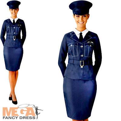 WRAF Girl Ladies Fancy Dress RAF Pilot Uniform WW2 1940s Womens Adults - Raf Pilot Kostüm