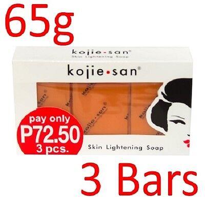 Kojie San 3-Pack Skin Whitening Lightening Bleaching Kojic Acid Soap 65-SALE!