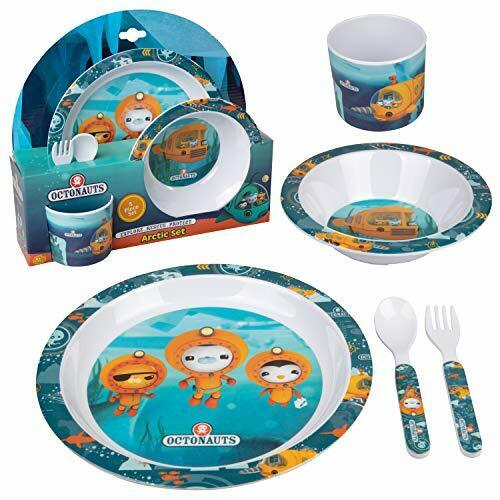 Octonauts 5 Pc Mealtime Feeding Set for Kids and Toddlers - Includes Plate,
