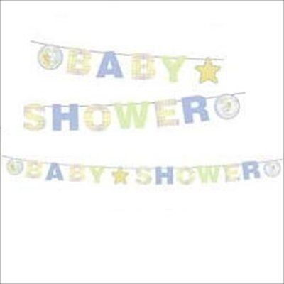 PRECIOUS MOMENTS Baby Shower BANNER ~ Party Supplies Decorations Neutral Unisex (Baby Shower Neutral Decorations)