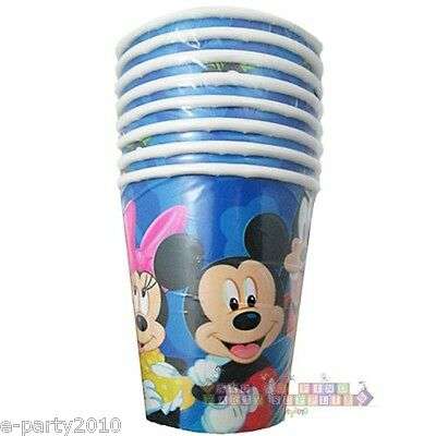 MICKEY MOUSE and FRIENDS 9oz PAPER CUPS (8) ~ Birthday Party Supplies Disney (Mickey Mouse And Friends Birthday Party Supplies)