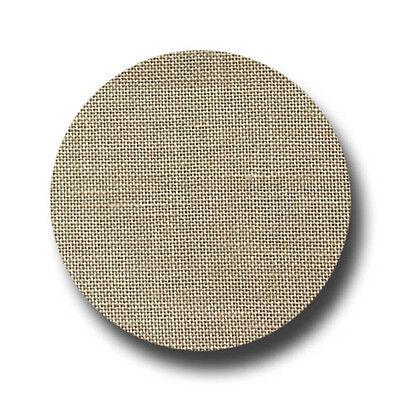 Zweigart 40ct Newcastle Linen-18x27 Needlework Fabric Summer Khaki
