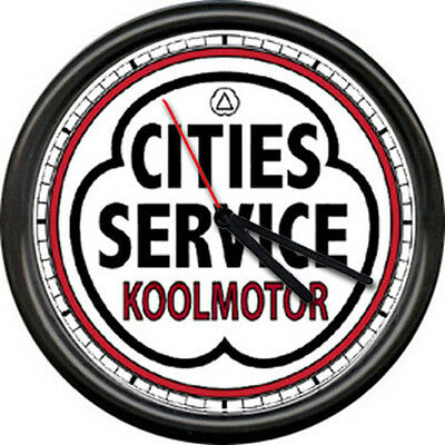 Cities service gas station retro pump logo vintage art oil cars sign wall clock