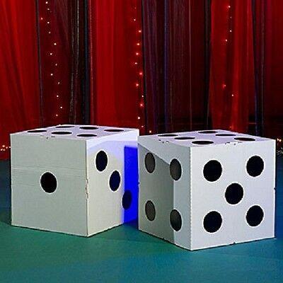 GIANT WHITE DICE  *  las vegas * casino * party decorations   - Las Vegas Decorations