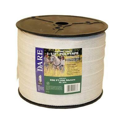 Electric Fence Tape White Poly Amp 15-wire Stainless Steel 1.5-in. X 656-ft.