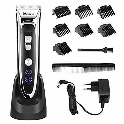 Professional Electric Rechargeable Hair Clippers Trimmer Kit for Men Cordless
