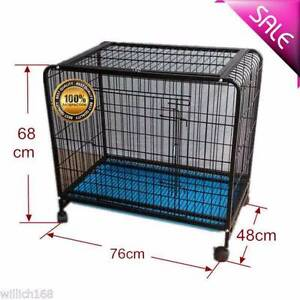 New 76CM Pet Kennel Folding Dog Crate Cage 2 Door Divide Tray Met Ravenhall Melton Area Preview