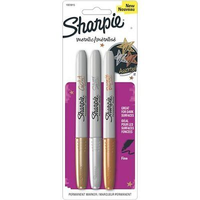 Sharpie Metallic Permanent Markers - Fine Marker Point Type - Gold Silver