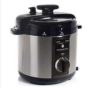 Wolfgang Puck Automatic 8-Quart Rapid Pressure Cooker - Black