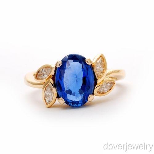 Estate Blue Sapphire Ring