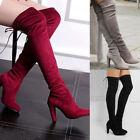 Winter Boots Knee-High Slim Heel Boots for Women