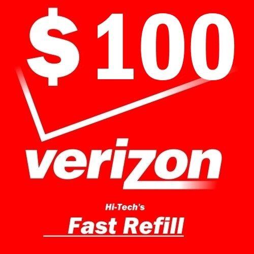 $100 VERIZON PREPAID > FASTEST < ONLINE REFILL 25yr USA TRUSTED DEALER