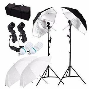 Photo Studio Video Umbrella Light Lighting Stand Kit Éclairage Ensemble Lumière Parapluie