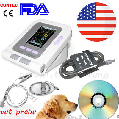 Usa Vet Veterinary Digital Blood Pressureheart Beat Monitor Nibpanimal Probe
