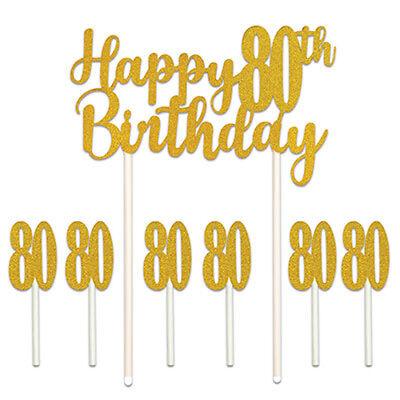 Happy 80th Birthday Cake Topper - Happy 80th Birthday