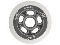 Brand new unpacked 2x 4-pk genuine K2 T-Nine Rollerblade In-line Skate Wheels 84mm/80A White.