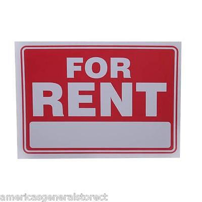 For Rent Red White 9 X 12 Flexible Plastic Sign Apartment House Condo Store