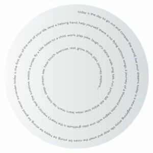 Elan Round Mirror with Inspirational Writing; 24-inches Diameter