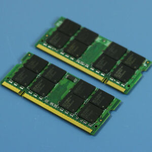 2GB 2G 2X1GB DDR2-533 PC2-4200 SO-DIMM 200-PIN NON-ECC RAM Laptop MEMORY SODIMM