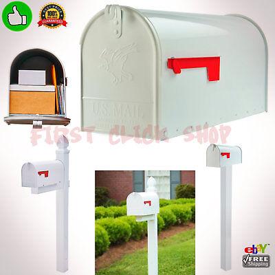 Large Rural Mailbox Oversize Street Roadside Post White Big Mail-box Postal Mail
