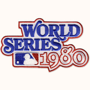 1980 WORLD SERIES LOGO JERSEY SLEEVE PATCH PHILLIES / KANSAS CITY ROYALS MLB