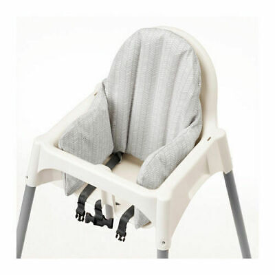 New IKEA KLAMMIG Baby Child High Chair Inflatable Cushion cover Gray/White