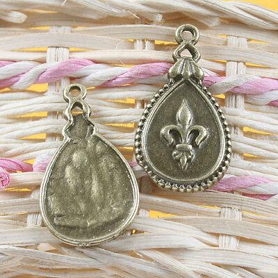 12pcs antiqued bronze pattern drop pendant charm - Antiqued Bronze Pattern