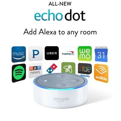 Amazon Echo Dot 2Nd Generation W  Alexa Voice Media Device  White