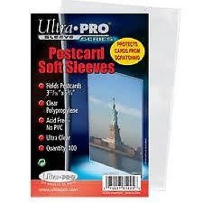 (100) Ultra Pro Postcard Soft Sleeves Archival Safe (1 Pack)