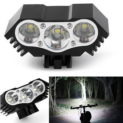 3x CREE XM-L T6 LED 12000Lm Cycling Front Bicycle Lamp Bike Headlight Flashlight