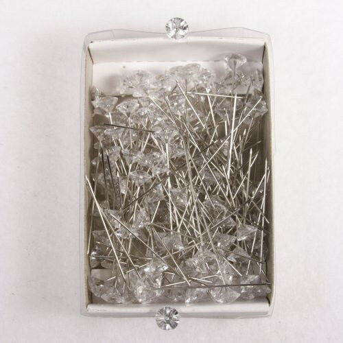"2"" Diamond Corsage Pin Diamante 144 Piece Pack 08302703  Clear"