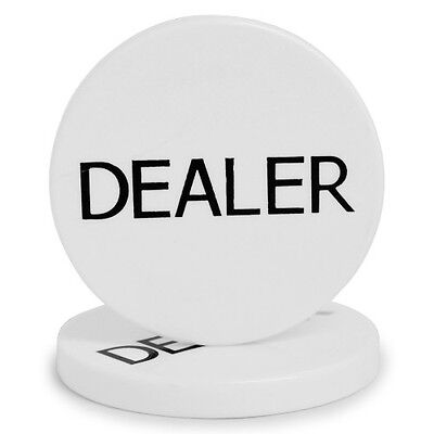 POKER DEALER BUTTON 1 ONE DEALER BUTTON 2 INCH TEXAS HOLDEM POKER CASINO