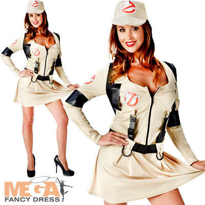 Ghostbusters Ladies Fancy Dress Halloween 1980s Womens Adult 80s Costume Outfit - 80's Halloween Outfits