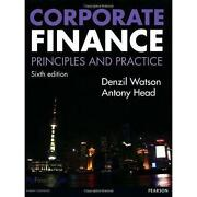 Corporate Finance Principles and Practice